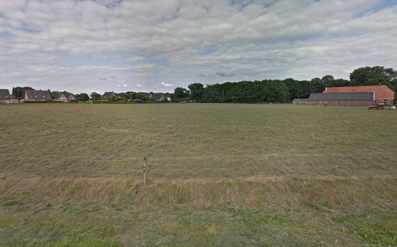 Het terrein aan de Poeleweg waar de woningen komen.