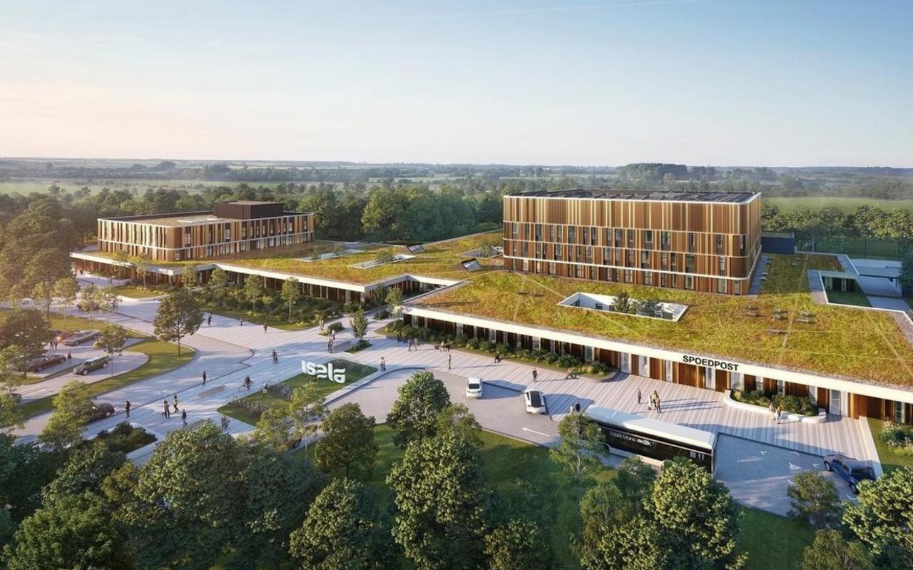 Impressie van de nieuwbouwplannen voor het ziekenhuis in Meppel.