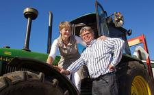 Klaas Smidt, hier op de foto met zijn echtgenote.