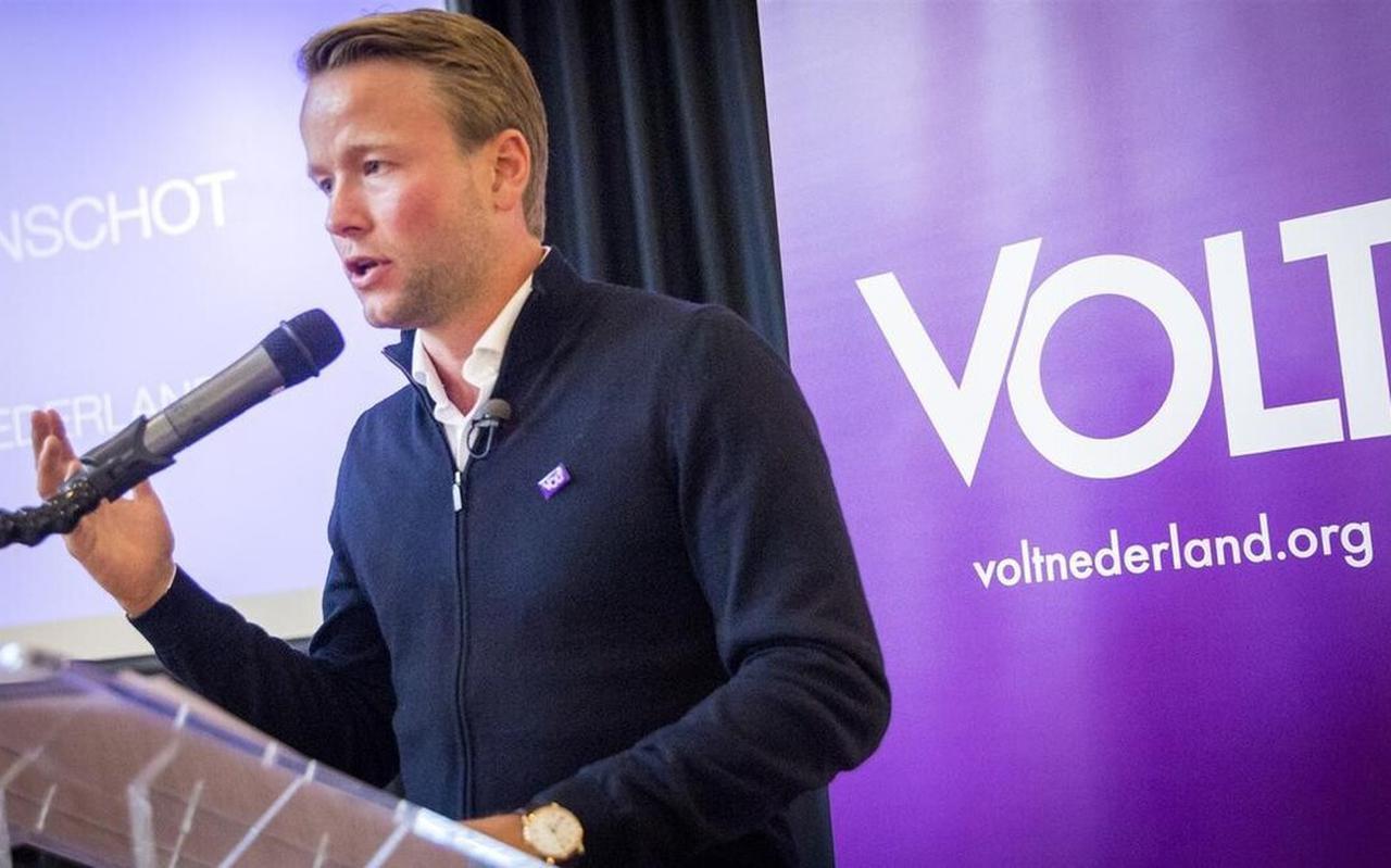 Lijsttrekker Laurens Dassen van Volt.