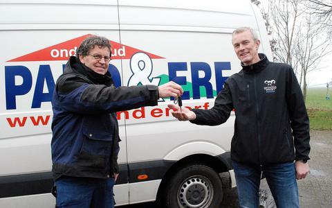 Pand&Erf overgenomen door Gezellig Werkt Onderhoud, links Jeene Keizer.