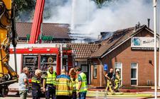 Een grote brand verwoestte het restaurant woensdag.