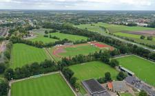 Sportpark Ezinge, waar de drie Meppeler voetbalclubs gevestigd zijn.
