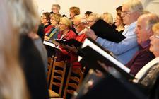 De Christelijke Oratoriumvereniging Steenwijk oefende deze week voor de grande finale van morgen.