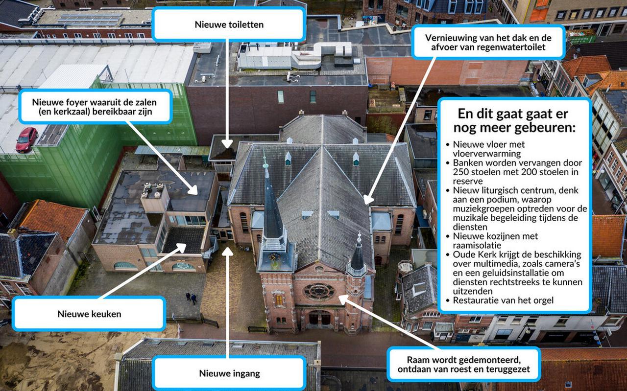 De Oude Kerk in Meppel krijgt een grondige opknapbeurt.
