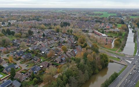 Een luchtfoto van een deel van de Oosterboer