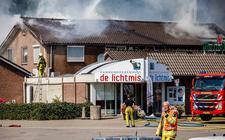 Brand bij wegrestaurant De Lichtmis.