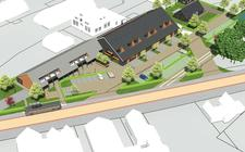 Zo moet de supermarkt met winkels, appartementen en parkeerplaatsen eruit gaan zien.
