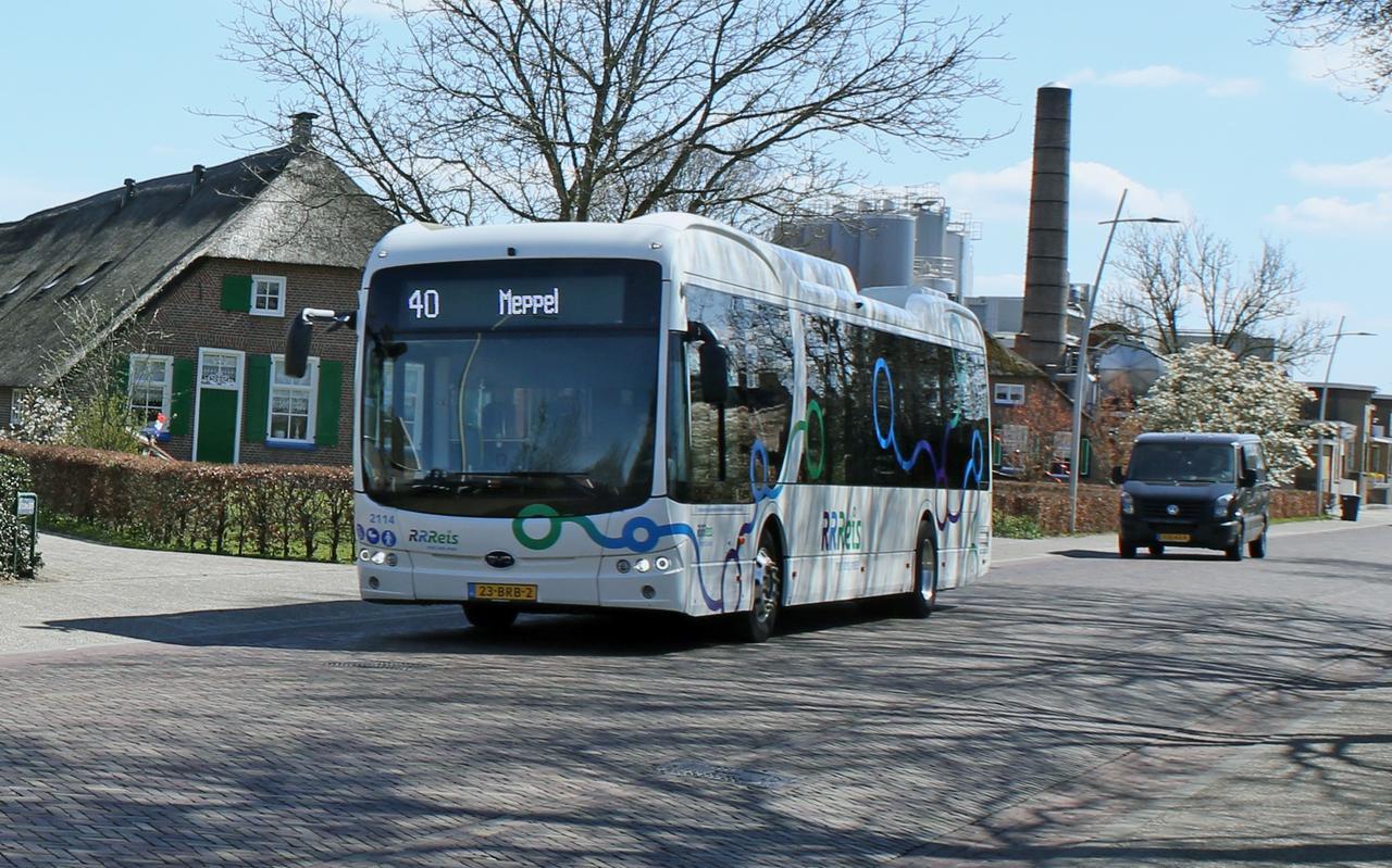 Staphorst doet het niet goed als het om frequent busvervoer gaat. Ook de haltes liggen ver weg.