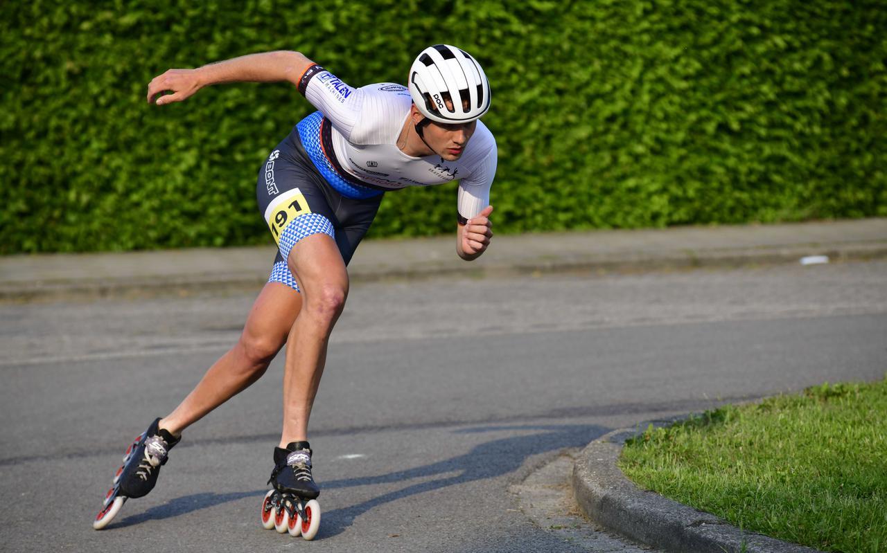 Inline-skater Marthijn Mulder in actie: 'Ik weet inmiddels wel dat ik ook naar mijn lijf moet luisteren.'