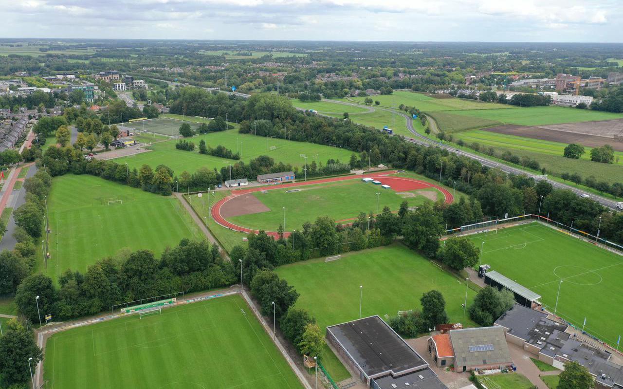Het huidige sportpark Ezinge. Nu nog de basis van de voetbalclubs Alcides, MSC en FC Meppel én van atletiekvereniging De Sprinter.