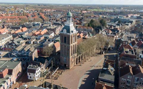 De Grote Kerk in de binnenstad van Meppel.