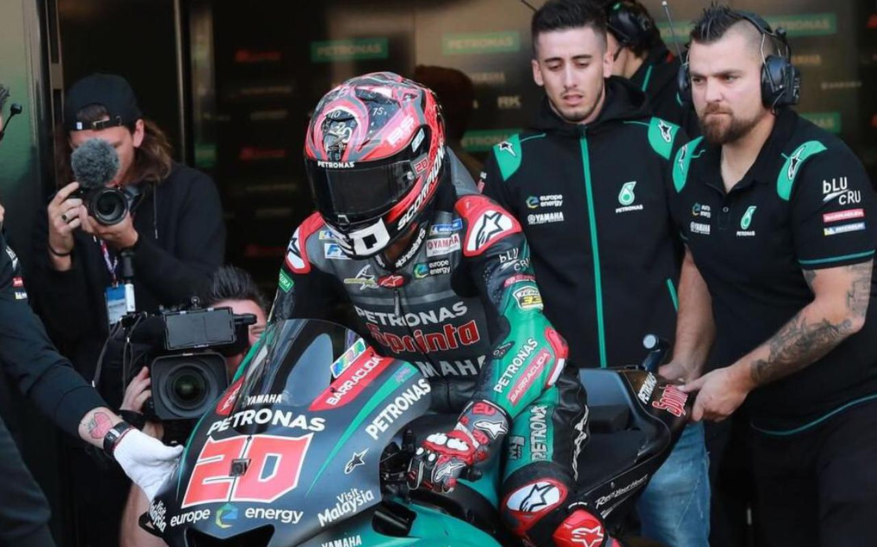 Robin Spijkers (rechts) afgelopen seizoen met Fabio Quartararo, die naar het fabrieksteam van Yamaha is vertrokken.