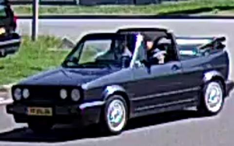 De vrijgegeven beelden van de auto.
