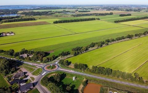 De locatie van het zonnepark tussen Wanneperveen en Meppel.